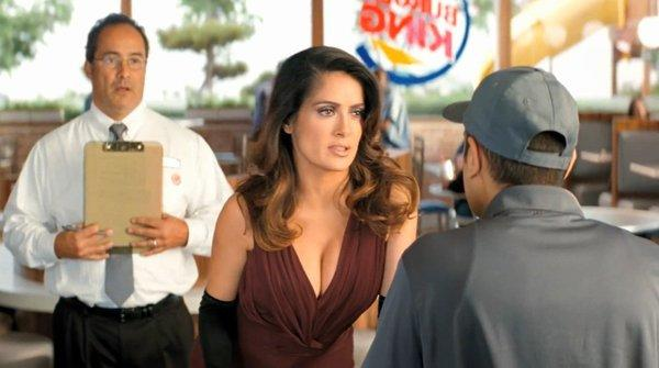 Salma Hayek is one of the stars of Burger King's new ad campaign. The chain, which is in the middle of a major revamp, said it will re-list shares on the NYSE within three months.