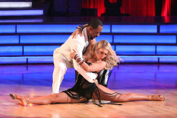 Jaleel White and Kym Johnson perform on Monday's 'Dancing with the Stars.'
