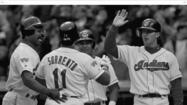 On April 8, 1992, in the first inning of the second game at Camden Yards, Cleveland Indians first baseman Paul Sorrento hit the first home run in the history of the ballpark. It was a three-run shot hit off Orioles pitcher Bob Milacki to left-center field on a 1-2 pitch.