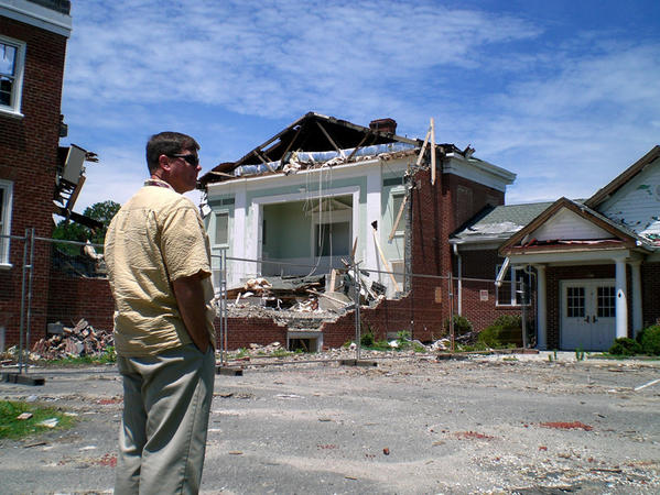 Zoar Baptist Church in Deltaville 2011 after tornado.
