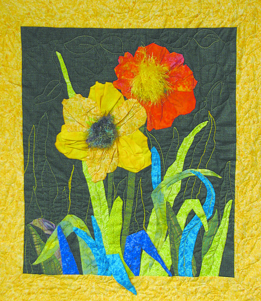 Kathi Garten's display of fabric art concludes Friday, April 6, at Council for the Arts in Chambersburg, Pa.