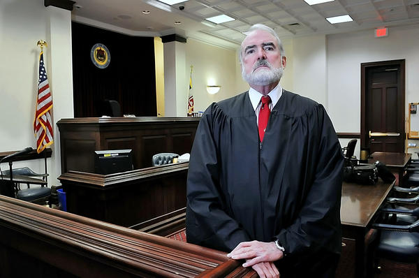 Judge W. Kennedy Boone III in his courtroom at Washington County Circuit Court.