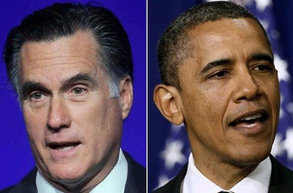 Mitt Romney and President Obama