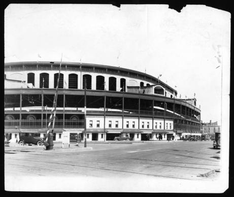 Wrigley Field 1928, two years after it was renamed for the Cub's new principal owner, William Wrigley, Jr. It was originally Weeghman Park.
