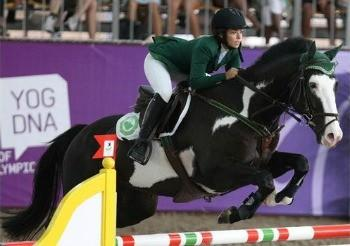 Saudi Dalma Malhas at the 2010 Youth Olympic Games