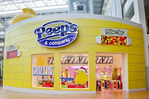 A store just for Peeps, and other Just Born products, at the Mall of America in Minnesota. The company recently launched new Peeps products, including several chocolate varieties, but the yellow chicks are still the best-sellers.