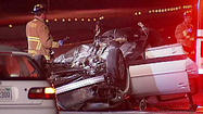 Fatal Freeway Racing Crash  (<b><font color=red>WARNING: Disturbing Images</font></b>)