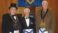 Antietam Masonic Lodge 197 A.F and A.M. in Keedysville presented a 70-year pin to Glenn C. Haynes Tuesday, April 3.