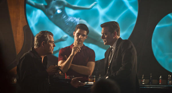 "Danny Huston, Steven Strait and Jeffrey Dean Morgan in ""Magic City."""