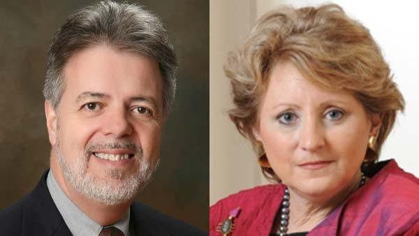 Physician John LaFerla of Chestertown and Cockeysville businesswoman Wendy Rosen, rivals for the Democratic nomination for the 1st congressional district in Maryland.