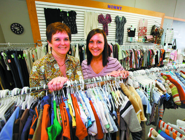 Penny Malsam, left, and her daughter Shantel Malsam are co-owners of Mommy & Me Consignment Store at 303 S. Main. St. American News Photo by John Davis