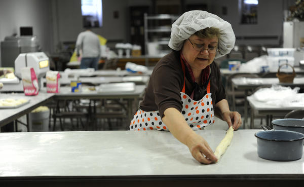 Nadia Kelly, of Breiningsville, as well as other members  of Holy Trinity Orthodox Church, Catasauqua will continue the beloved tradition of making Paska for Easter. They're making several hundred loaves for parishioners and others who ordered them.