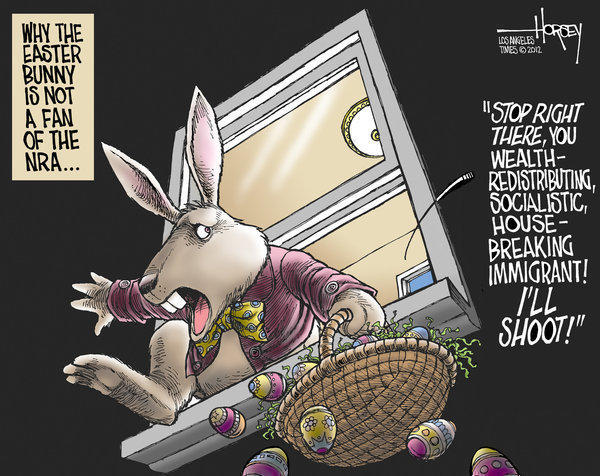 Will the Easter Bunny be a target in gun-toting NRA homes? - latimes.com