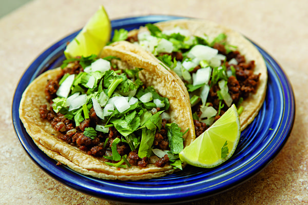 "La Cocina serves vegetarian ""chorizo"" tacos."