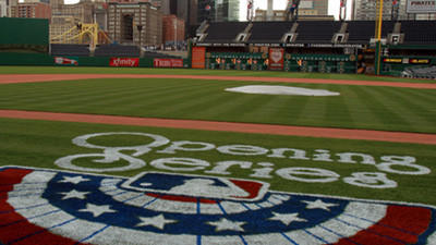 Opening day at PNC Park, home of the Pittsburgh Pirates.