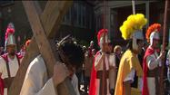 At a prayer service in Daley Plaza to celebrate Good Friday, Cardinal George likened the suffering of Jesus on this day to the suffering of Christians in Chicago whether it is from illness, death,  financial problems, anything that causes pain.