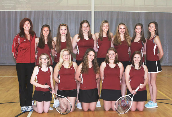 The members of the 2012 Charlevoix Rayder girls tennis team will play in their first matches of the season on Tuesday, April 10 at home.