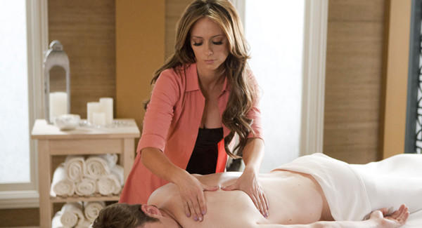 "Riley (Jennifer Love Hewitt) doles out massages, advice and maybe something more in ""The Client List."""