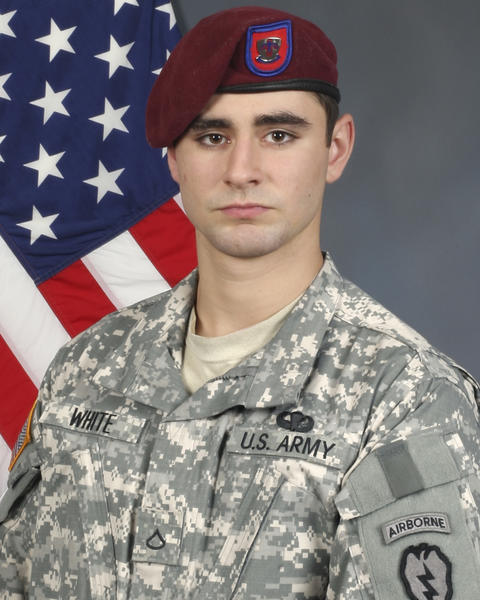 The U.S. Army says Joint Base Elmendorf-Richardson paratrooper Spc. Jeffrey Lee White Jr., 21, of Catawissa, Mo. was killed Tuesday by an improvised explosive device in Afghanistan's Khowst province that wounded five other soldiers. White had been in Afghanistan since December on his first combat deployment.