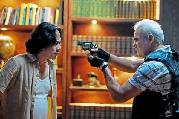 "Ray Sahetapy and Pierre Gruno in ""The Raid: Redemption."""