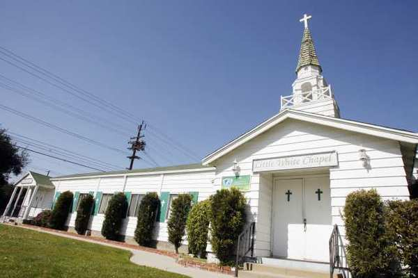Little White Chapel in Burbank may be housing wireless telecommunication antennas in the future. School may ban cell equipment.