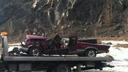 Falling Ice Hits Car on Seward Highway Gallery