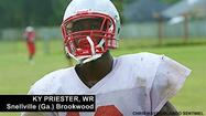 Former Lake Mary wide receiver <strong>Kyrin 'Ky' Priester</strong>, who transferred at the beginning of the current semester to Snellville (Ga.) Brookwood High outside Atlanta, has committed to the University of Georgia's recruiting class of 2013.