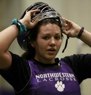 Northwestern goalie Brianne LoManto.  (Chris Walker / Chicago Tribune)