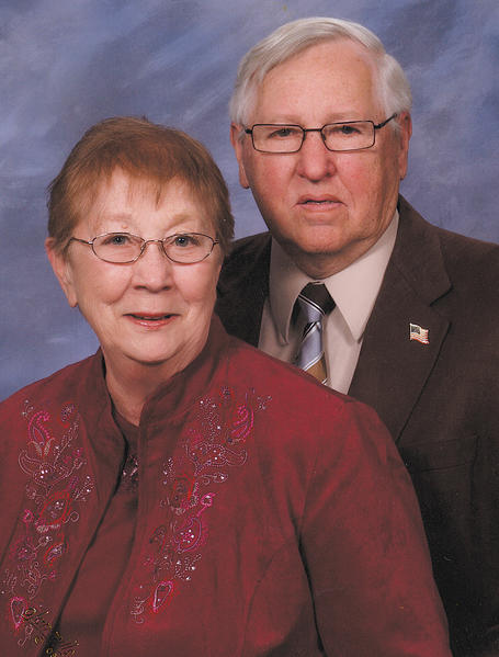 Connie and Gilbert Noll pose for this church directory photo in 2009.