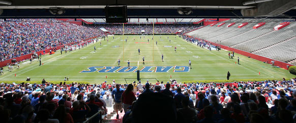 Florida Gators annual spring Orange and Blue game in Gainesville, Fla. Saturday, April 7, 2012.