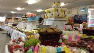 The dessert spread for Easter at Camp Clark (Todd Walker / KTUU)