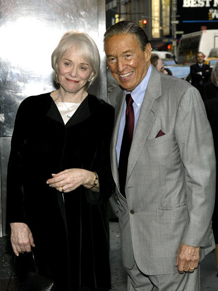 Mike Wallace and his wife, Mary at MoMA's 36th Annual Party In The Garden at Roseland Ballroom in 2004.