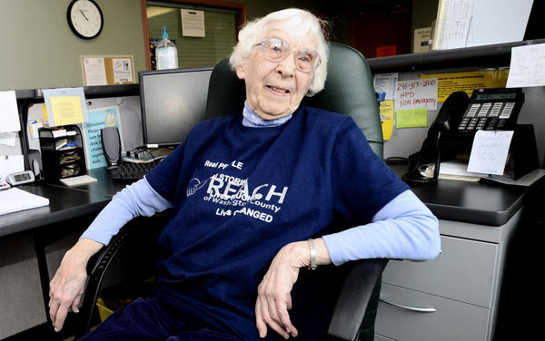 Sister Corda, who was born Peggy Mullenix, grew up in Hagerstown, and has spent 60 years as a Catholic school teacher. She just capped five years as a volunteer with the REACH Day Resource Center.
