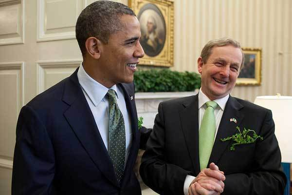 President Barack Obama meets with Taoiseach Enda Kenny of Ireland in the Oval Office, March 20, 2012.