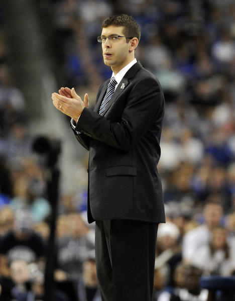 The young head coach for the Butler Bulldogs faced off in the 2011 NCAA championship game and Jim Calhoun came out on top.
