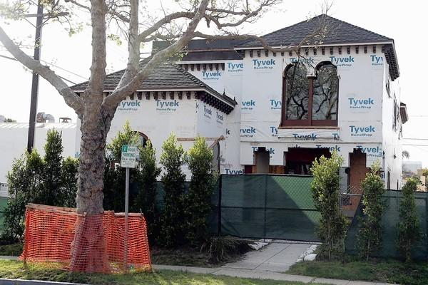 "Despite $1.2 million advanced for construction by Davis' trust, the Beverly Hills home sits half-finished because of what the contractor said were his client's ""cash-flow"" problems."
