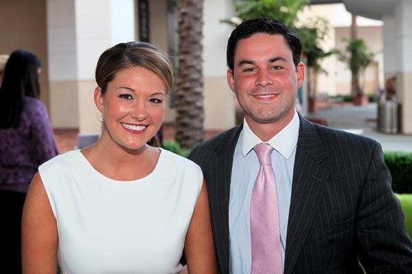 "Erin Guy, left, and Chris Emma at the Palm Beach Area Chapter of The Leukemia & Lymphoma Society's ""Man & Woman of the Year"" event, which took place on March 28 at the 51 Supper Club & Lounge located in Palm Beach Gardens."