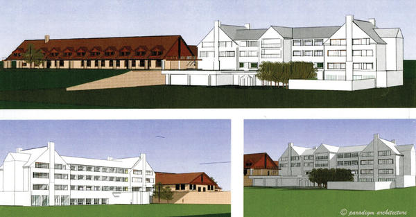 This artist's drawing shows the planned expansion of facilities at Cacpon State Park near Berkeley Springs, W.Va.