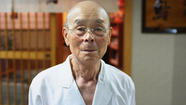Jiro Ono is an 85-year-old sushi chef. I think it's safe to say he's the best in the world. His place is the only restaurant of its kind to be awarded a 3 star Michelin review (the best, in what we're told is a prestigious publication). It's a great feat, considering it only seats 10, and is in the basement of a building near a subway station.