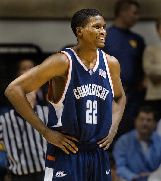 Rudy Gay left UConn after his sophomore season and was selected No. 8 overall by the Houston Rockets and then traded to the Memphis Grizzlies.