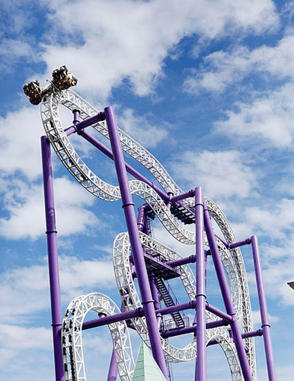 The Intamin ZacSpin roller coaster coming to Steel Pier on the Atlantic City Boardwalk in New Jersey will feature a vertical zigzag track that sits on a compact footprint.