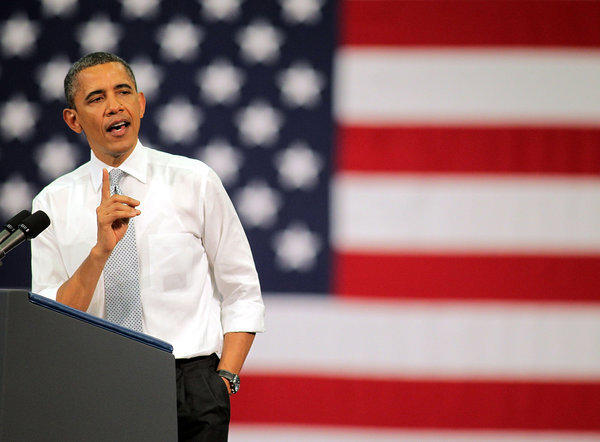 President Obama speaks on the economy at Florida Atlantic University in Boca Raton.