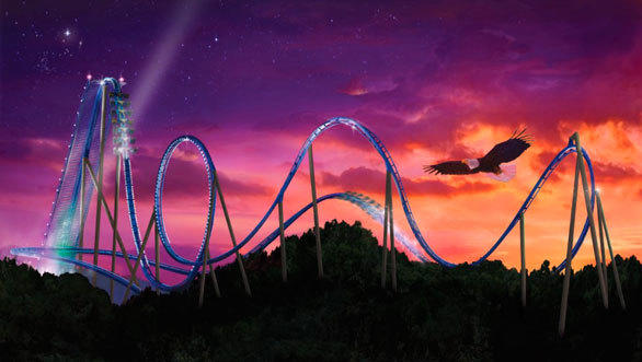 Scheduled to open in May at Six Flags Great America, X-Flight will be the second coaster of its kind in the United States following the March premiere of the $20 million Wild Eagle at Dollywood in Tennessee.