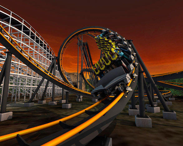 X-Flight brings Six Flags Great America's coaster count to 13 after the removal of Iron Wolf in 2011. The 1990 stand-up coaster will be relocated to Six Flags America in the Washington, D.C., area, where the ride will be renamed Apocalypse (shown).