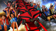The X-Flight coaster coming in May to Six Flags Great America will take riders seated in a winged formation through a near-miss keyhole fly-through that serves as the new ride's signature element.