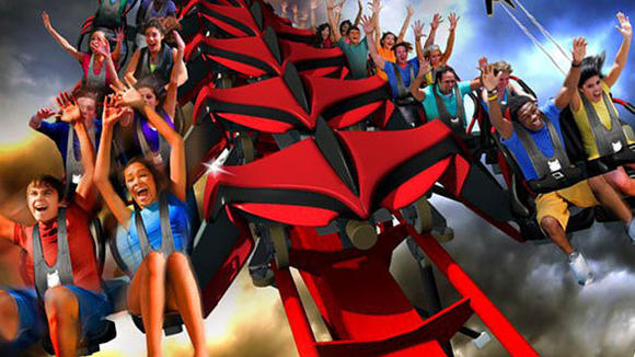 X-Flight wing coaster at Six Flags Great America