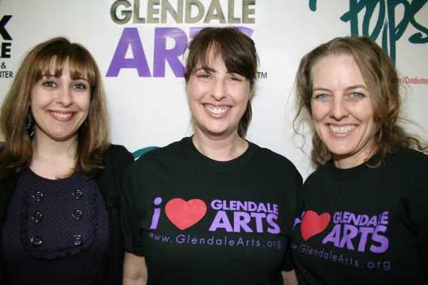 Glendale Arts and the Alex Theatre staff led off their fundraising telephone campaign. From left are Maria Sahakian, Interim CEO Elissa Glickman and Nina Crowe.