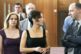 Anna Chlumsky, Julia Louis-Dreyfus, Tony Hale (left to right)