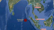 A massive earthquake struck off the coast of the Indonesian island of Sumatra Wednesday afternoon, triggering a tsunami watch for the Indian Ocean, which was later canceled.