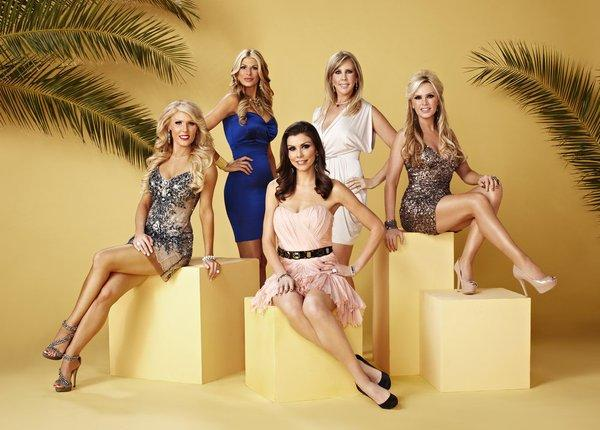 The 'Housewives,' L-R: Gretchen Rossi, Alexis Bellino, Heather Dubrow, Vicki Gunvalson, Tamra Barney